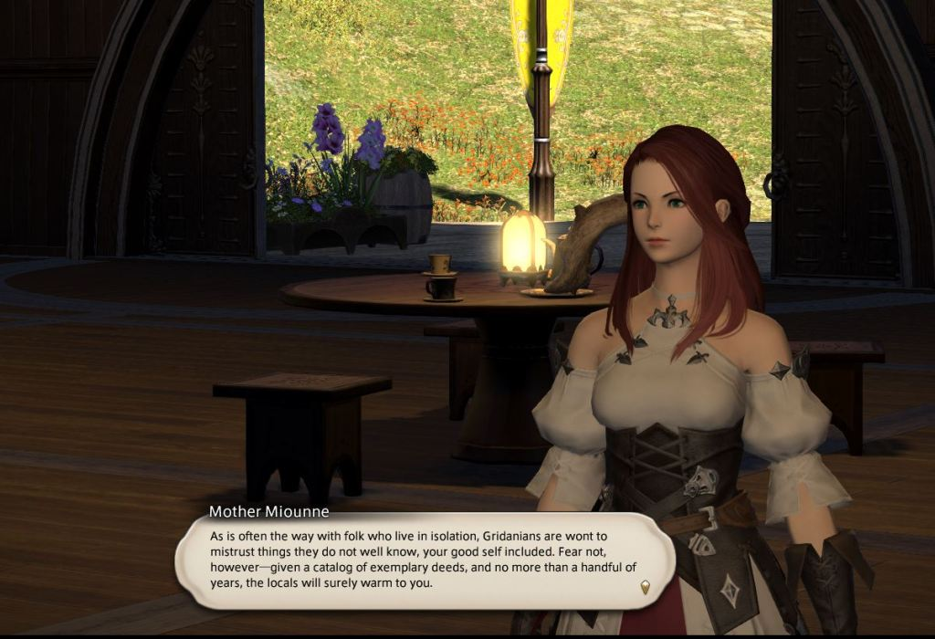 My character talking to an NPC